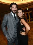 Celebrities Wonder 50791045_amy-adams-GLSEN-Respect-Awards_Cote de Pablo and Joe Manganiello 3.jpg
